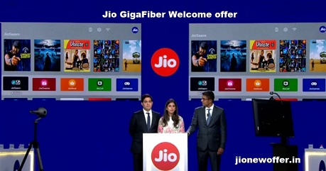 Jio GigaFiber welcome offer