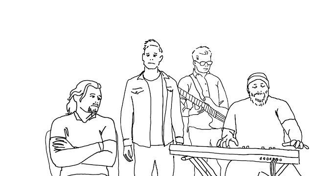 illustration of four guys