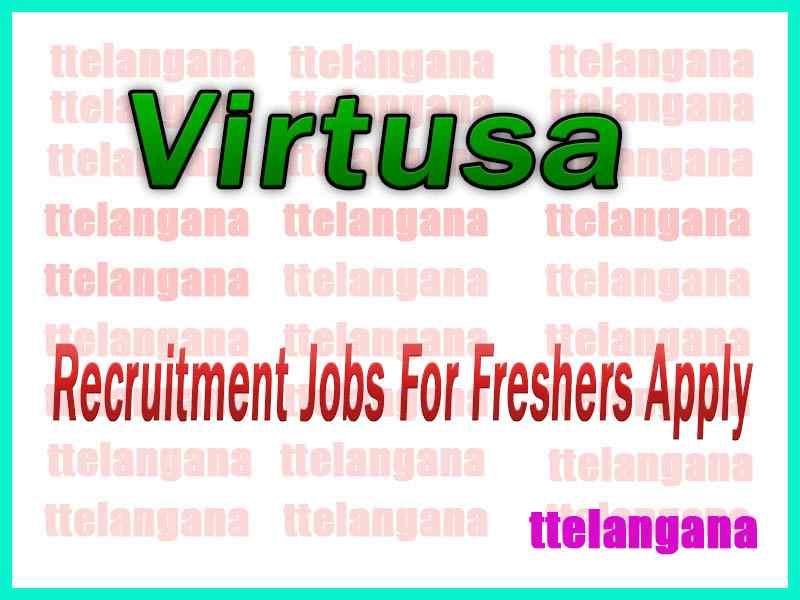 Virtusa Recruitment Jobs For Freshers Apply