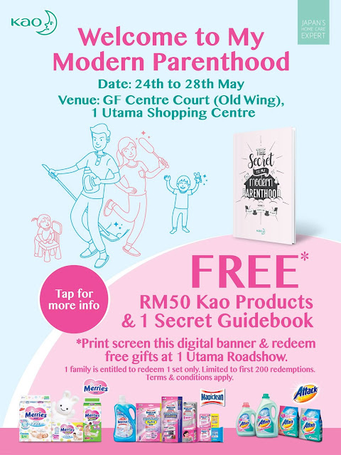 Kao Malaysia Free Gift Welcome to My Modern Parenthood