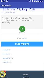 Saat Aplikasi Webview di Run di Android Studio