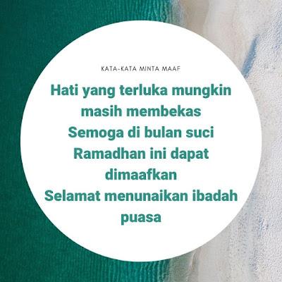 Mohon maaf menjelang puasa Ramadhan