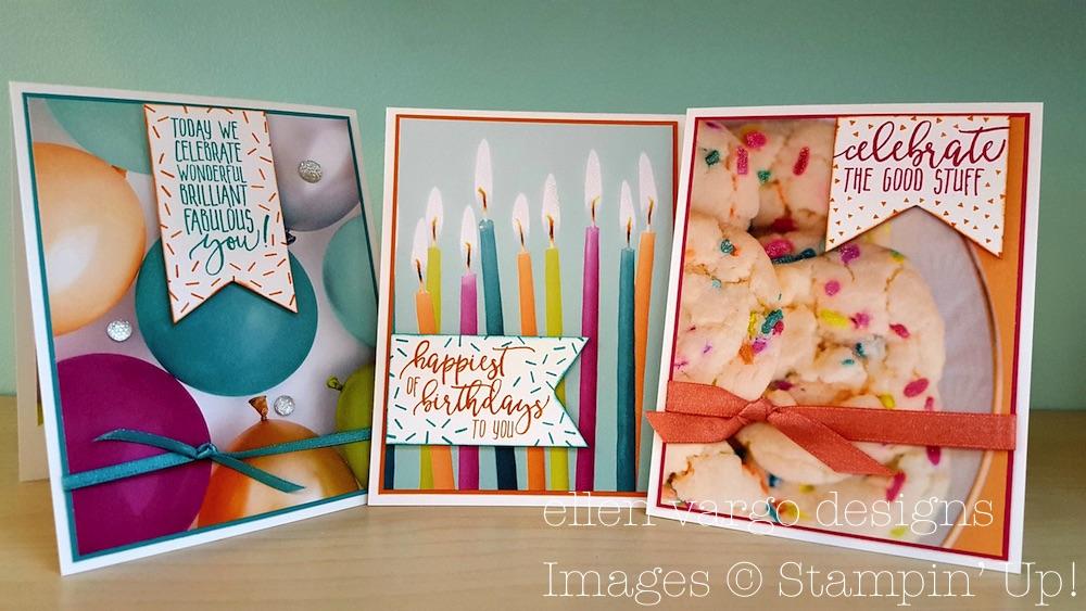 Ellen Vargo Designs Picture Perfect Birthday Card Trio