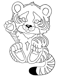 Tiger Baby Coloring Sheet Images Ideas