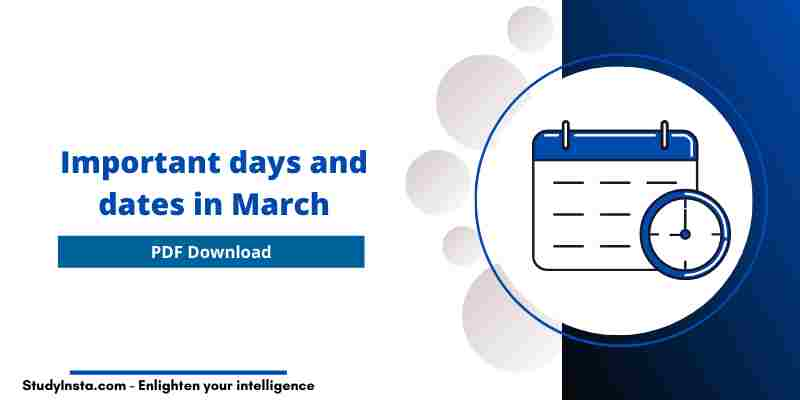 Important days and dates in March 2021 [PDF]