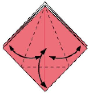 Bước 5: Gấp tạo nếp gấp tại những vị trí nét đứt