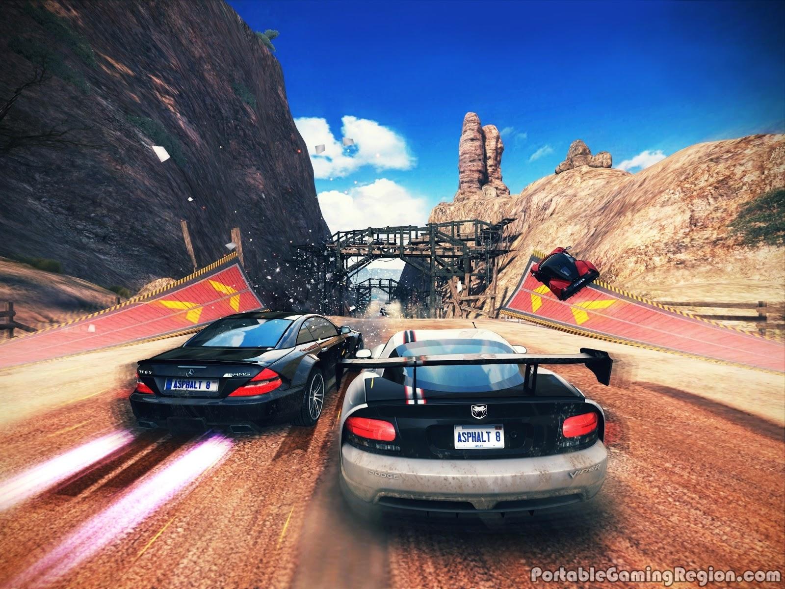 تحميل لعبة asphalt 8 مهكرة