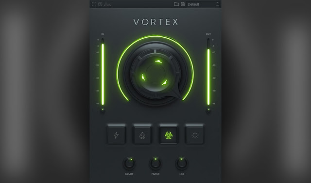 Interface do plugin Cymatics - Vortex 808 Enhancer 1.0.3