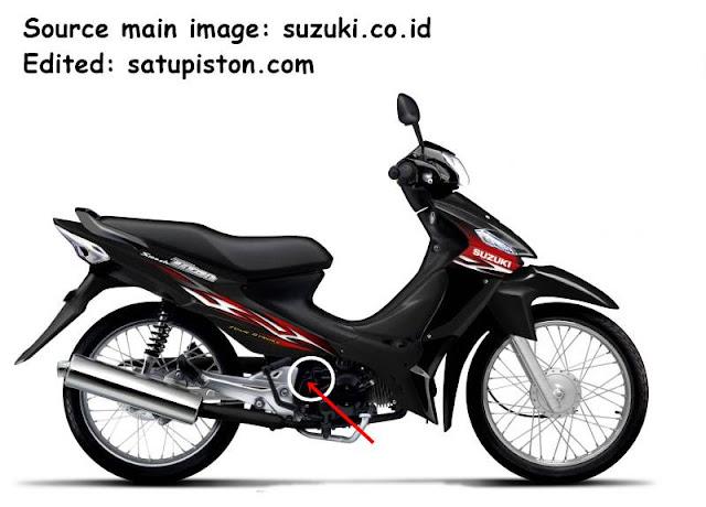 Letak Nomor Rangka dan Nomor Mesin Suzuki Titan