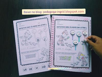 atividade para alfabetização educação fundamental infantil