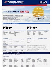 Philippine Airlines - Promo Tickets and Seat Sale