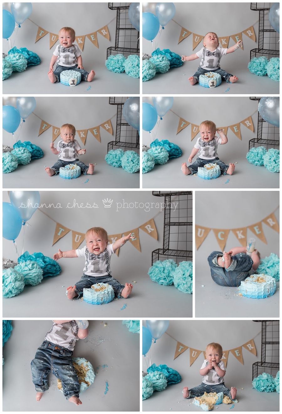 eugene oregon baby photography cake smash