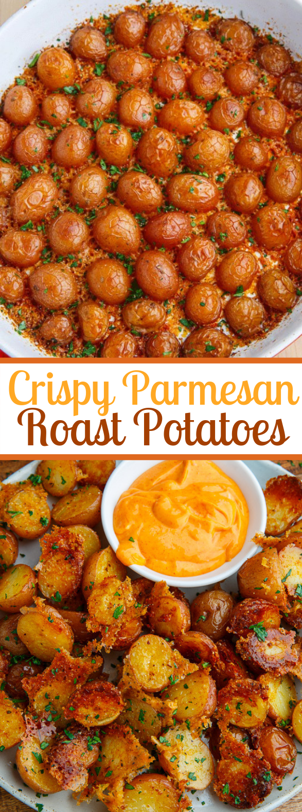 Crispy Parmesan Roast Potatoes #vegetarian #frenchfries