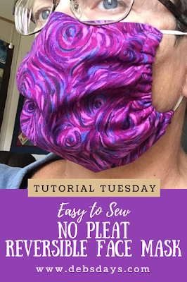 Easy No Pleat Cloth Fabric Face Mask Project