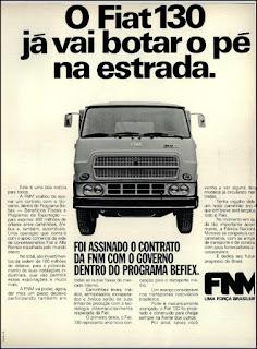 propaganda caminhão Fiat 130 - 1976, caminhão FNM 1976, Fiat anos 70, FNM década de 70, Oswaldo Hernandez,