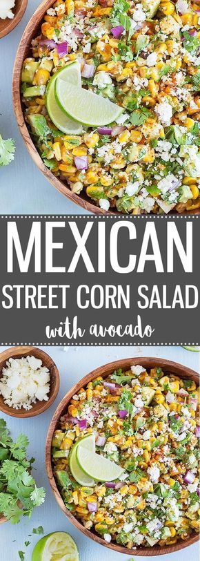 Mexícan  Street Corn Salad Wíth Avocado
