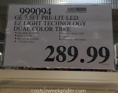 Costco 999094 - Deal for the GE 7.5ft Pre-lit LED Just Cut Aspen Fir Artificial Christmas Tree at Costco