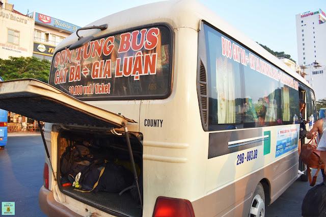 Autobús isla de Cat Ba