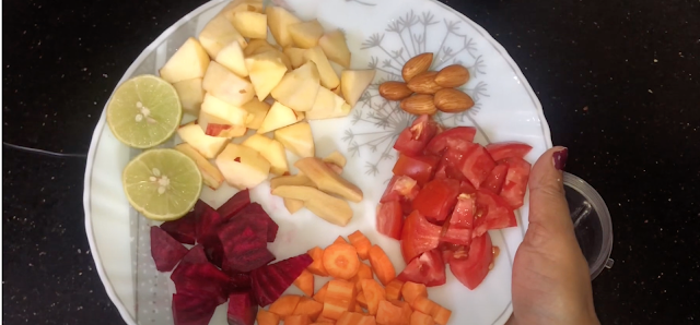 Ingredients for Apple, Beetroot, Carrot Smoothie