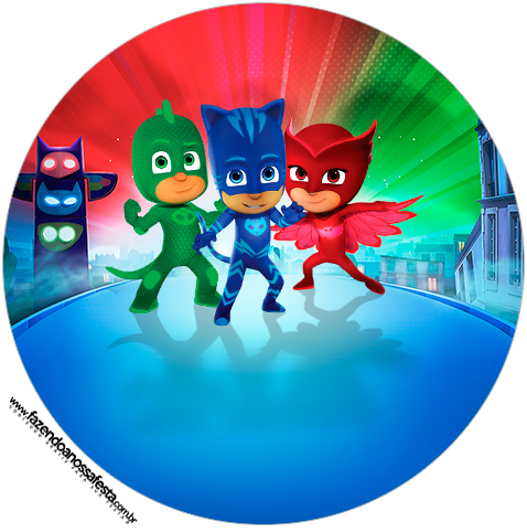 picture relating to Pj Mask Printable referred to as PJ Masks: Absolutely free Printable Wrappers and Toppers for Cupcakes
