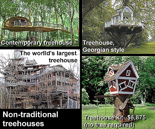 Biggest Treehouse In The World 2013 art now and then: treehouse architecture