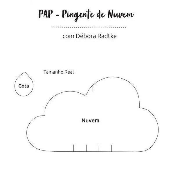 Pingente Nuvem Com Molde Para Imprimir Como Faço