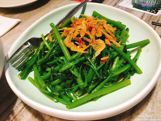 Shrimp paste kangkong