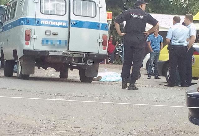 На глазах полиции в Уфе убили мужчину