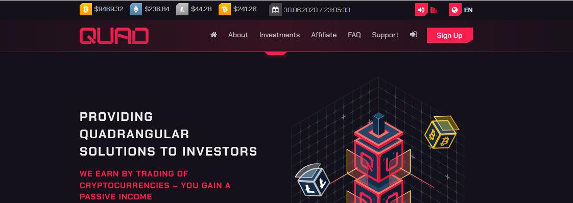 Мошеннический сайт quad.fund – Отзывы, развод, платит или лохотрон? Информация от PlayDengi