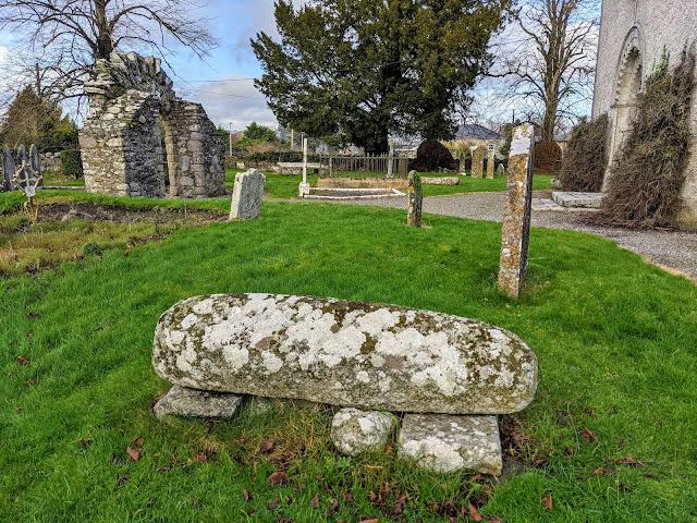 Viking hogback stone at St. James Church in Castledermot in South Kildare