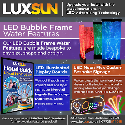 Blackpool Hotels Weekly Goings-On Shows and Events Newsletter, Sponsored by LUXSUN LED Lighting