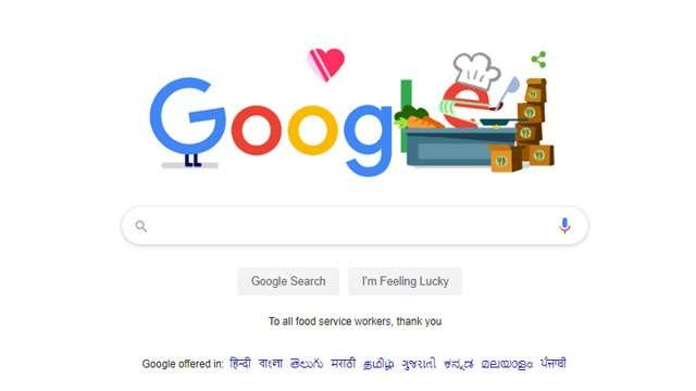 Google thanks all food service workers by creating Doodle