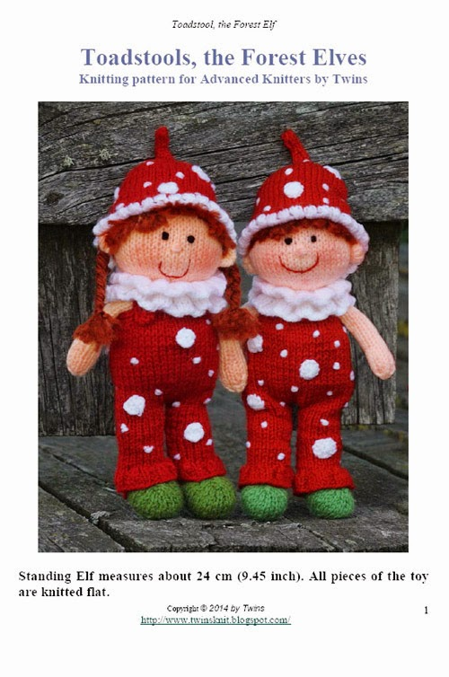 knitted doll, knitted gnome, knitted elf