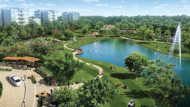 Công viên hồ nước tại dự án Louis City