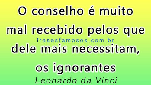 Frases de Leonardo da Vinci sobre ignorância