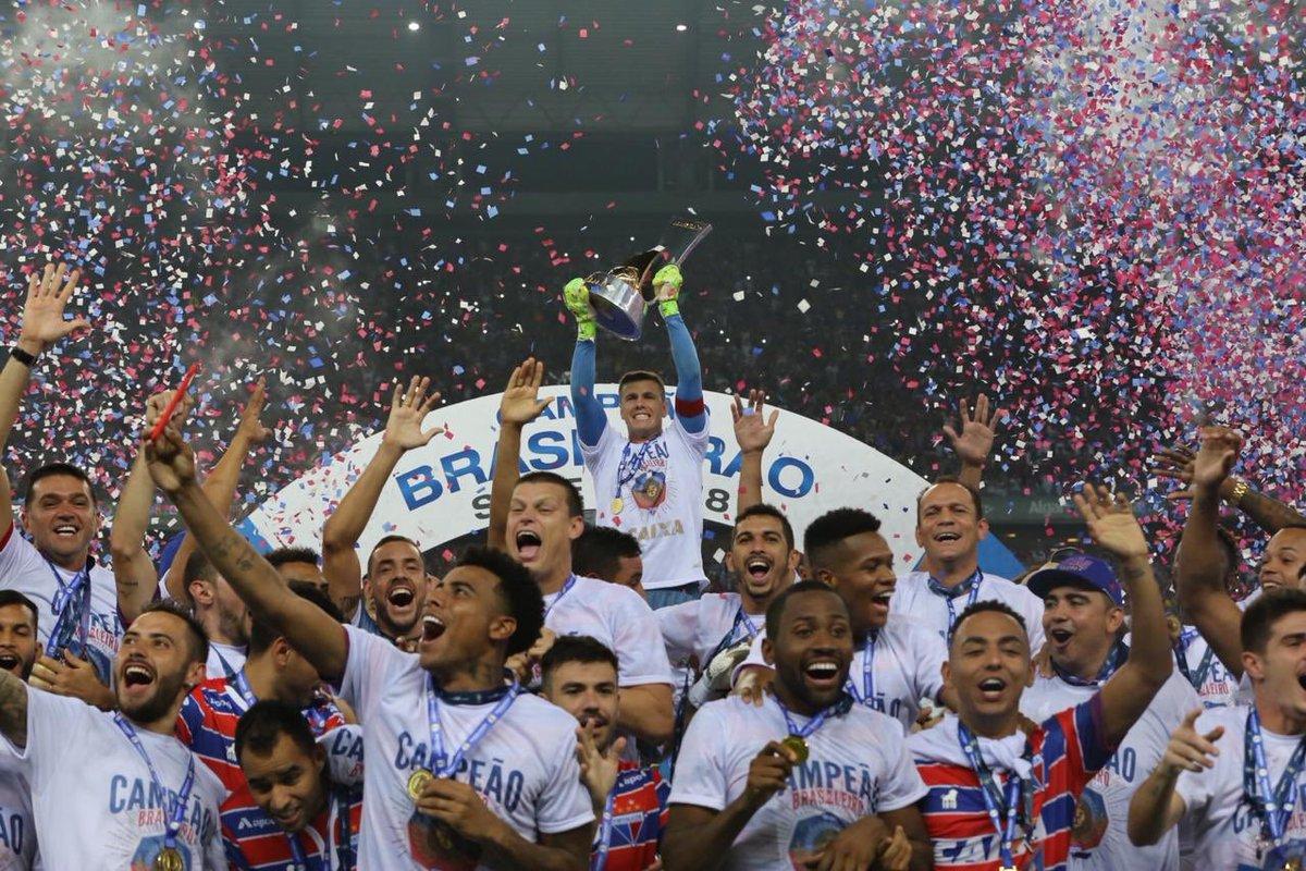 Fortaleza goleia Juventude na festa da entrega da Taça de Campeão Brasileiro  2018 da Série B eb0311f7a8f62