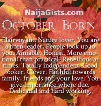 october born personality