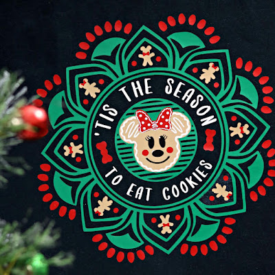 Tis the Season to Eat Cookies Minnie Gingerbread TShirt Design