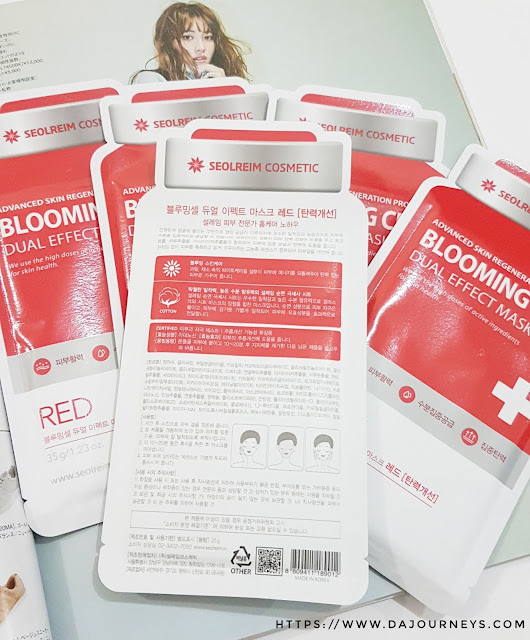 [Review] Blooming Cell DUAL EFFECT MASK RED