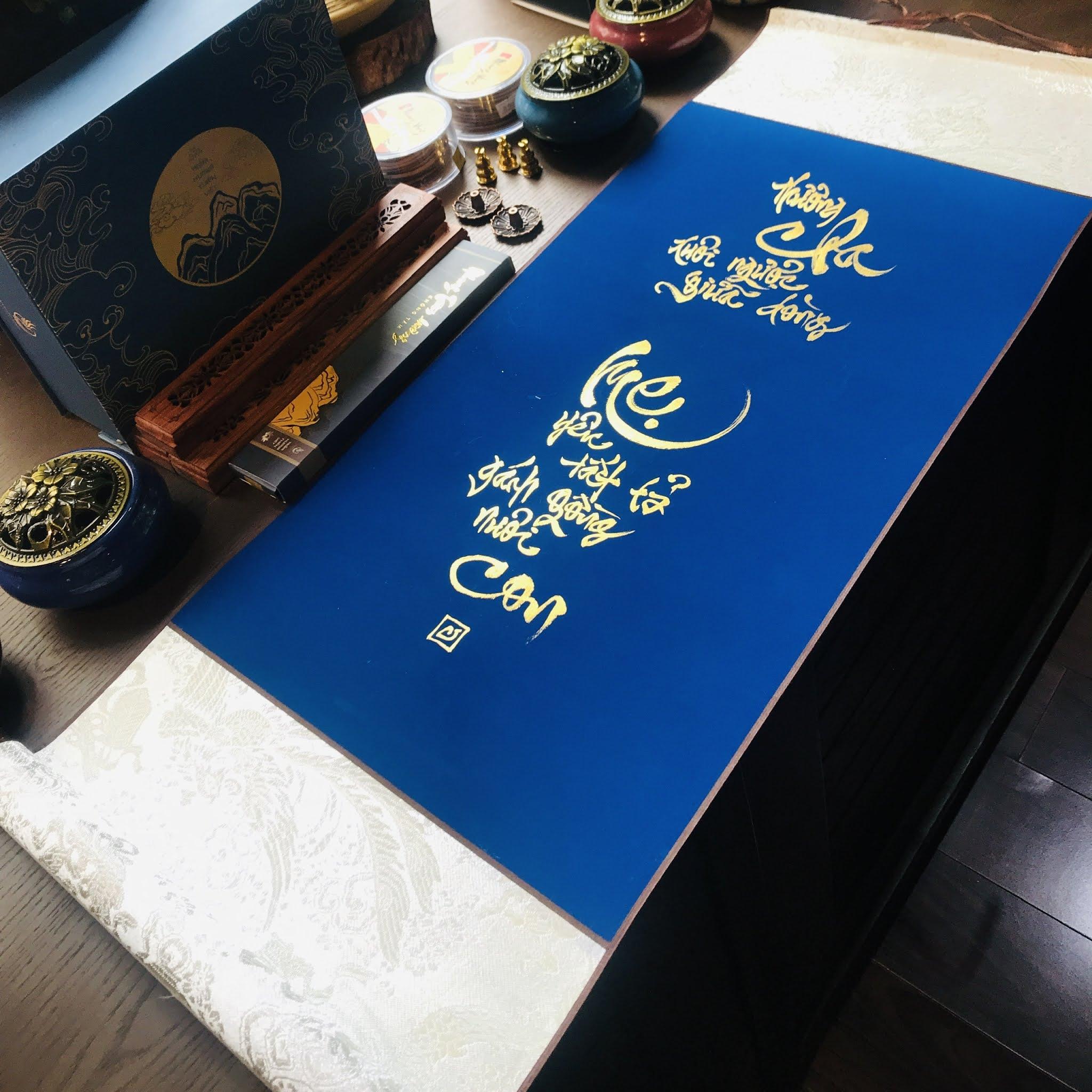 Biểu viết thư pháp đẹp tại Hà Nội