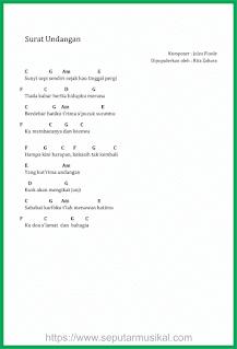 chord lagu surat undangan rita zahara