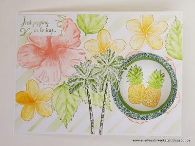 Tropische Peek-A-Boo Karte zum Geburtstag Stampin' Up! www.eris-kreativwerkstatt.blogspot.de