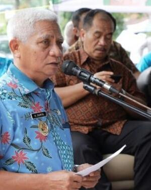 Plt Bupati Asahan Surya dan Sekda Taufik ZA.