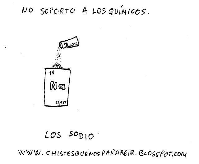 No soporto a los químicos. los sodio