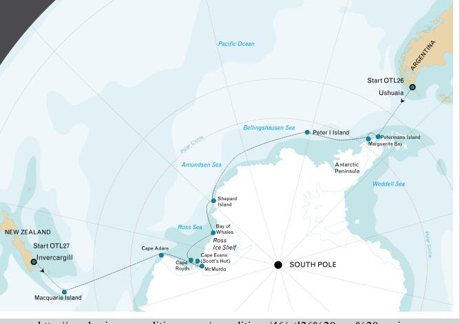 Rick Potvins Virtual Circumnavigation Of Antarctica To Decide If - What is the latitude and longitude of antarctica