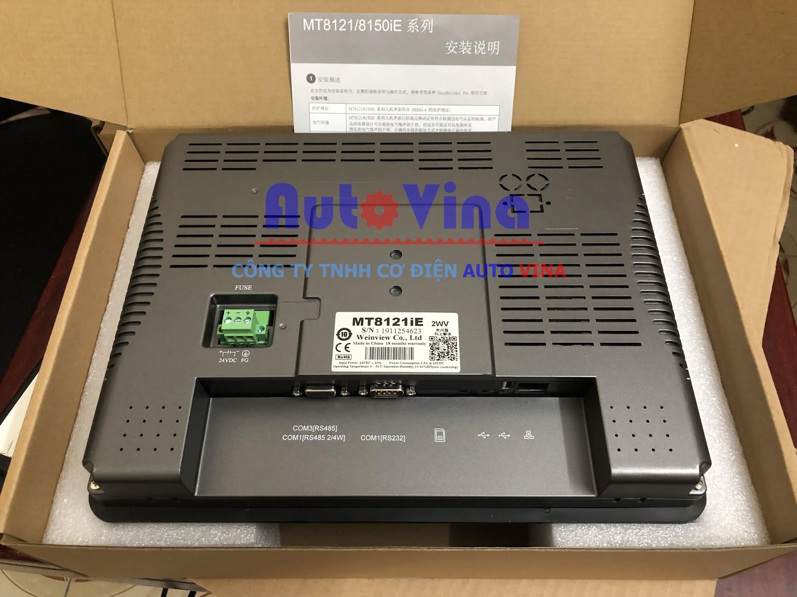 Đại lý bán màn hình cảm ứng HMI hãng Weinview Weintek MT8121iE