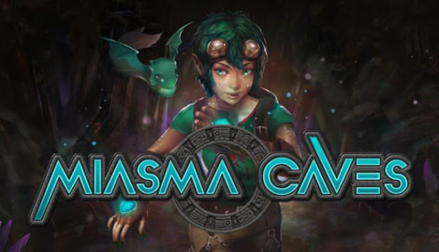 Miasma Caves an adventure game with elements of a bagel, focused on research and discovery.