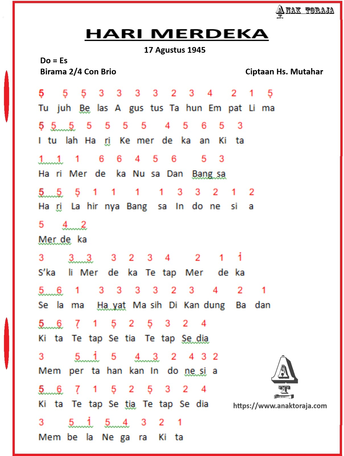Birama Hari Merdeka : birama, merdeka, Angka, Agustus, (Hari, Merdeka)
