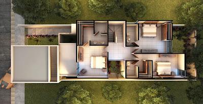 Casa Modelo en Privada Residencial Arborettos-Modelo Álamo planta arquitectonica