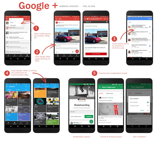 Google+ For Android Got update with Community moderation tools & faster Web browsing : Download APK